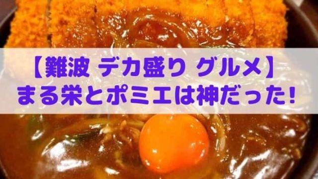 【難波 デカ盛り グルメ】安くて美味すぎる2店!まる栄とポミエは神だった